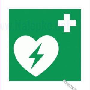 Evakuacijske poti in stopnišča Defibrilator