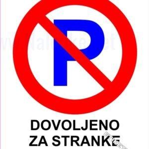 Znaki prepovedi Dovoljeno za stranke 2