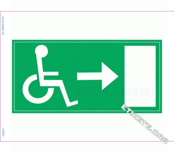 Evakuacijske poti in stopnišča Evakuacija invalidi desno