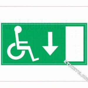 Evakuacijske poti in stopnišča Evakuacija invalidi dol