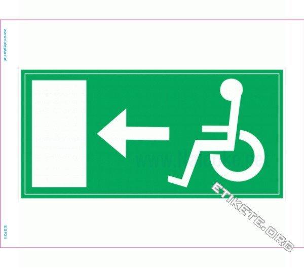 Evakuacijske poti in stopnišča Evakuacija invalidi levo