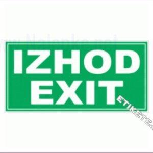 Evakuacijske poti in stopnišča Izhod-exit