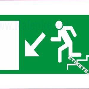 Evakuacijske poti in stopnišča Izhod v sili – levo navzdol