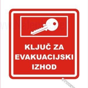 Gasilska oprema Ključ za evakuacijski izhod