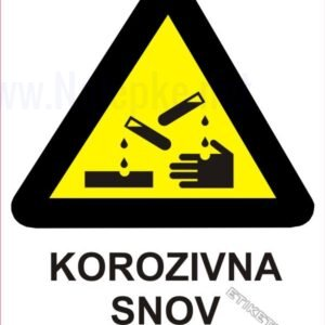 Opozorilni znaki Korozivna snov 1