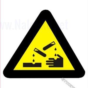 Opozorilni znaki Korozivna snov