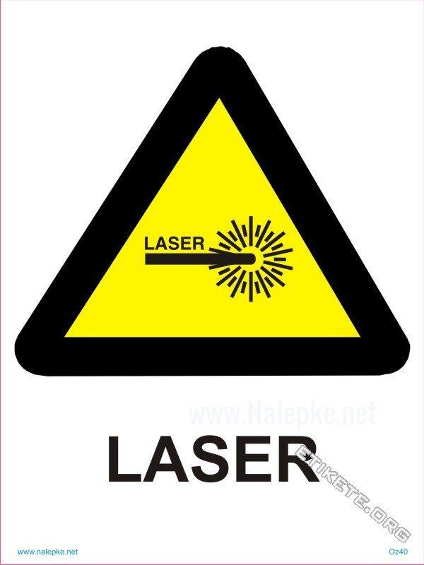 Opozorilni znaki Laser 1