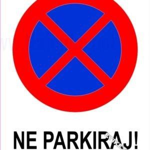Znaki prepovedi Ne parkiraj
