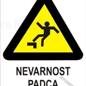 Opozorilni znaki Nevarnost padca 1