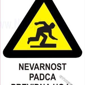 Opozorilni znaki Nevarnost padca previdna hoja 1