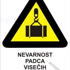 Opozorilni znaki Nevarnost padca visečih bremen 1