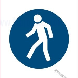 Opozorilni znaki obveze Obvezna pot za pešce