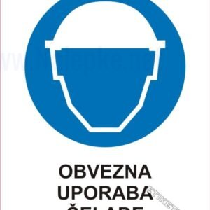 Opozorilni znaki obveze Obvezna uporaba čelade 1