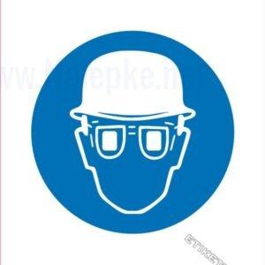 Opozorilni znaki obveze Obvezna uporaba čelade in očal