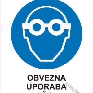 Opozorilni znaki obveze Obvezna uporaba očal 1