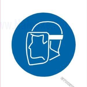 Opozorilni znaki obveze Obvezna uporaba ščitnika obraza