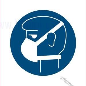 Opozorilni znaki obveze Obvezna uporaba zaščitne maske 2