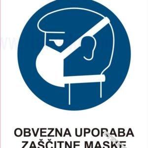 Opozorilni znaki obveze Obvezna uporaba zaščitne maske1