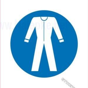 Opozorilni znaki obveze Obvezna uporaba zaščitne obleke