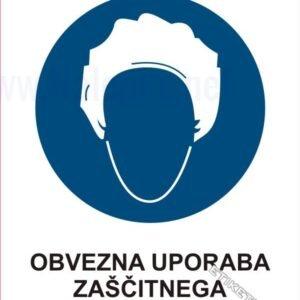 Opozorilni znaki obveze Obvezna uporaba zaščitnega pokrivala1