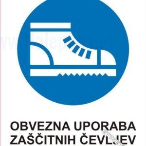 Opozorilni znaki obveze Obvezna uporaba zaščitnih čevljev 1
