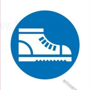 Opozorilni znaki obveze Obvezna uporaba zaščitnih čevljev