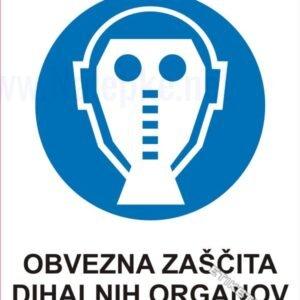 Opozorilni znaki obveze Obvezna zaščita dihalnih organov 1