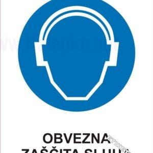 Opozorilni znaki obveze Obvezna zasščta sluha 1