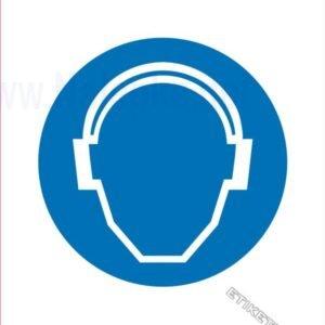 Opozorilni znaki obveze Obvezna zaščita sluha