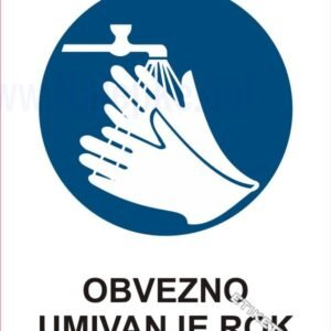 Opozorilni znaki obveze Obvezno umivanje rok 1