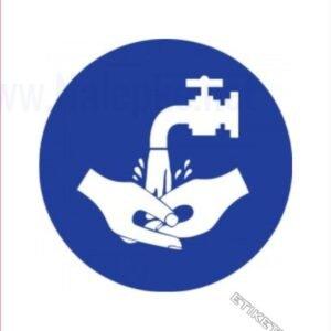 Opozorilni znaki obveze Obvezno umivanje rok