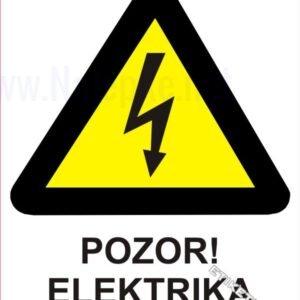Opozorilni znaki Pozor! Elektrika 1