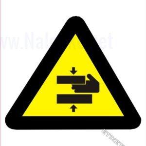 Opozorilni znaki Pozor! Ne segaj v nevarno območje – stisk
