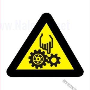 Opozorilni znaki Pozor! Ne segaj z roko v nevarno območje stroja
