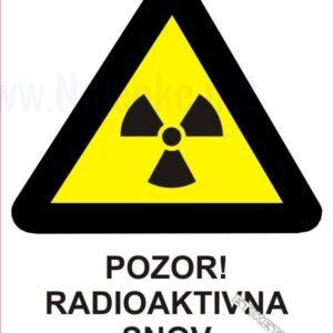 Opozorilni znaki Pozor! Radioaktivna snov 1