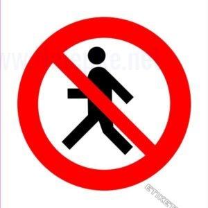 Znaki prepovedi Prepovedan prehod