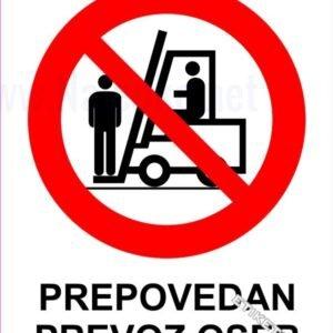 Znaki prepovedi Prepovedan prevoz oseb 1