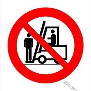 Znaki prepovedi Prepovedan prevoz oseb