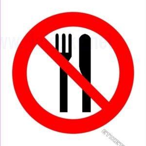 Znaki prepovedi Prepovedan vnos hrane
