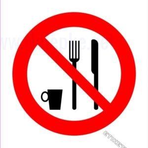 Znaki prepovedi Prepovedan vnos hrane in pijače 2
