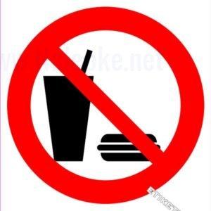 Znaki prepovedi Prepovedan vnos hrane in pijače