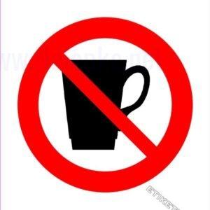 Znaki prepovedi Prepovedan vnos pijače