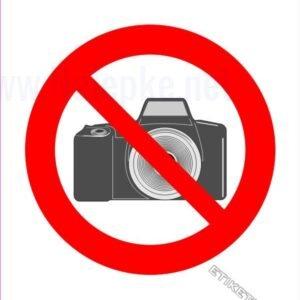 Znaki prepovedi Prepovedano fotografiranje