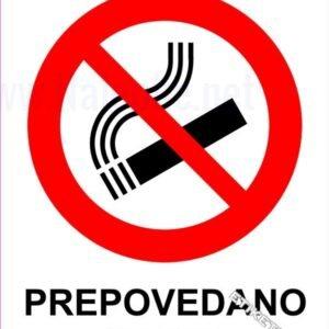 Znaki prepovedi Prepovedano kajenje 1