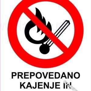 Znaki prepovedi Prepovedano kajenje in kurjenje 1