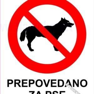 Znaki prepovedi Prepovedano za pse 1