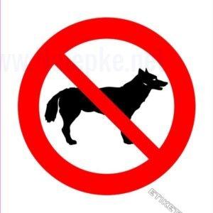 Znaki prepovedi Prepovedano za pse