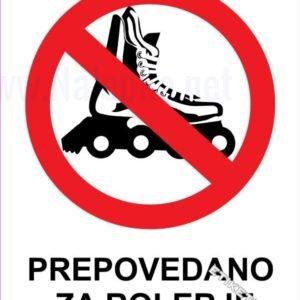 Znaki prepovedi Prepovedano za rolerje 1