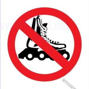 Znaki prepovedi Prepovedano za rolerje