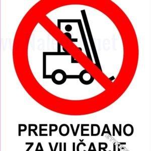 Znaki prepovedi Prepovedano za viličarje 1